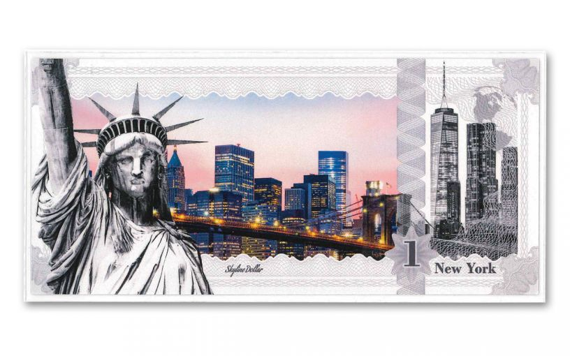 2017 Cook Islands 1 Dollar 5-gram Silver New York Skyline Dollar Proof-Like