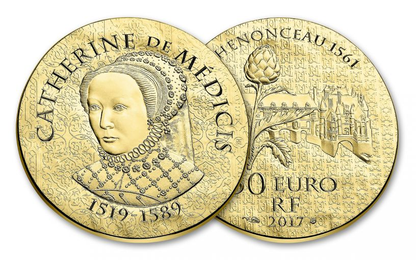 2017 France 50 Euro Gold Women of France Catherine De Medicis Proof