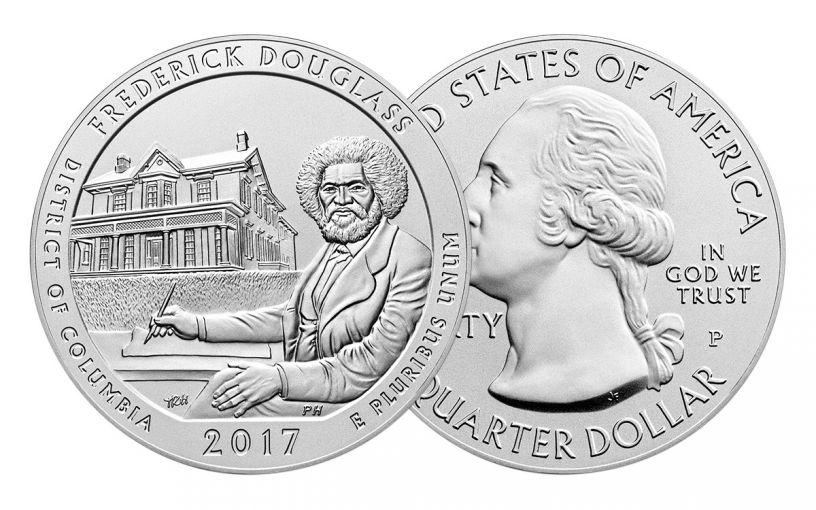 2017-P 25 Cent 5-oz Silver America the Beautiful Frederick Douglass Specimen