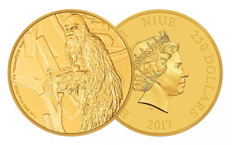 2017 Niue 250 Dollar 1-oz Gold Star Wars Chewbacca Proof