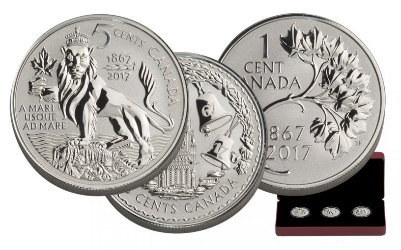2017 Canada Silver Forgotten 1927 Designs 3-Coin Proof Set