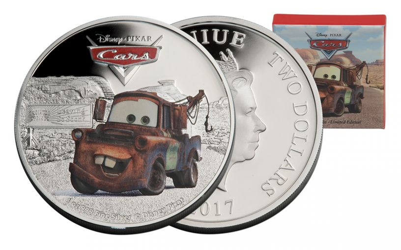 2017 Niue 2 Dollar 1-oz Silver Cars Tow Mater Proof