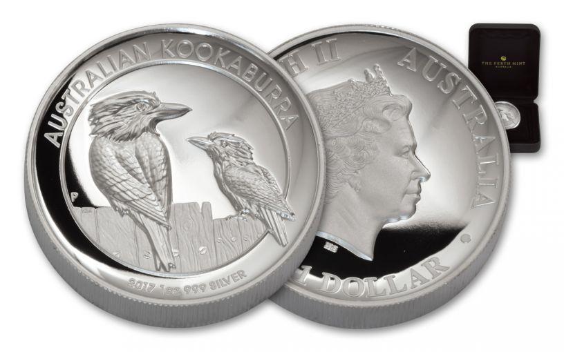 2017 Australia 1 Dollar 1-oz Silver Kookaburra High Relief Proof