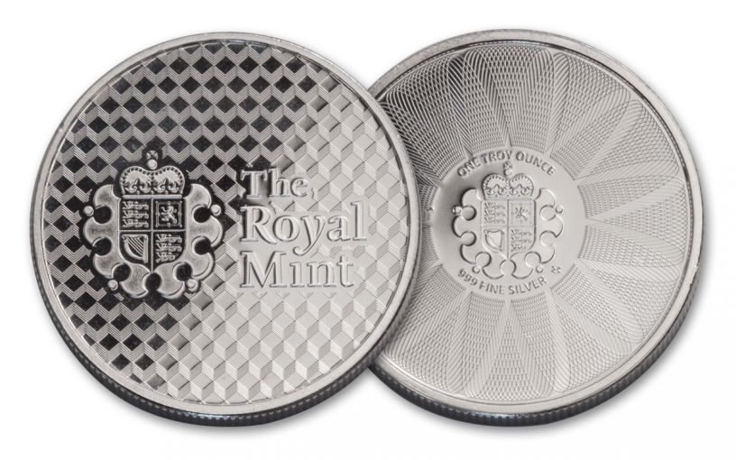 British Royal Mint 1-oz Silver Royal Mint Shield Round