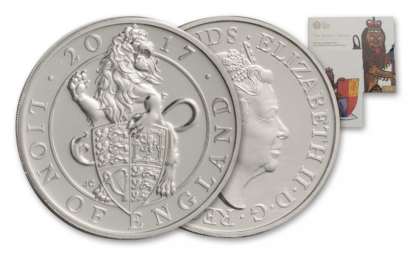 2017 Great Britain 5-lb Cupro-Nickel Queen's Beast Lion BU