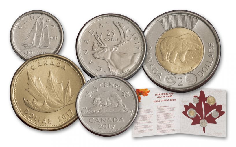 2017 Canada Our Home and Native Land 5 Piece Set