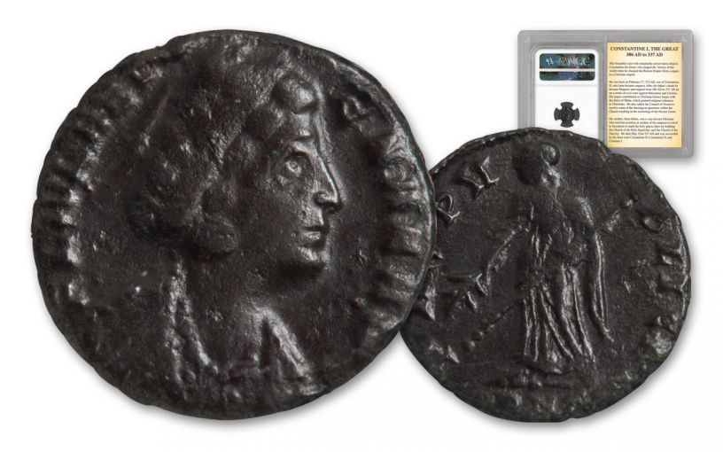 Ancient Roman Bronze St Helena NGC VF
