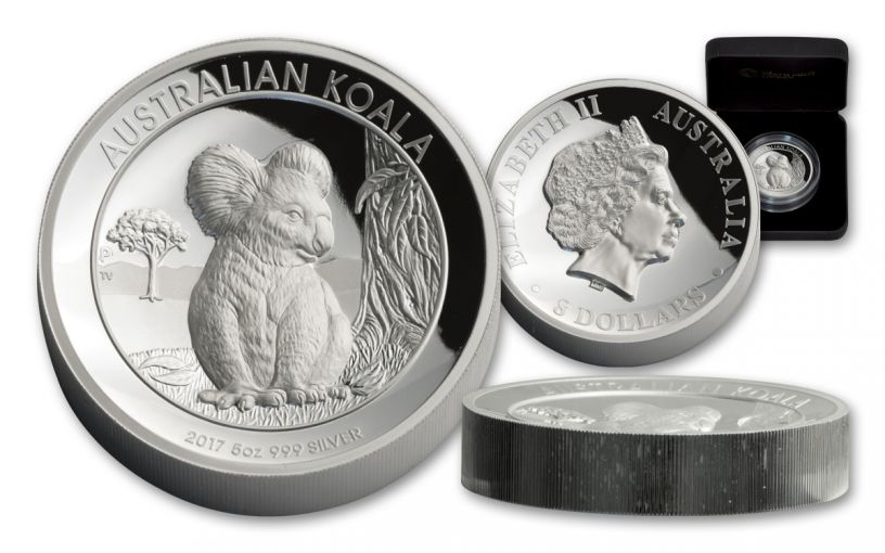 2017 Australia 5-oz Silver Koala HR Proof