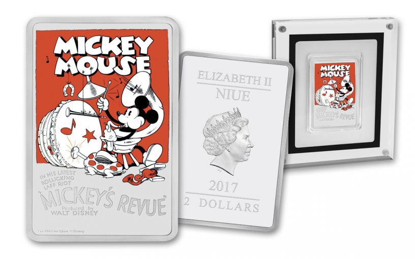 2017 Niue 2 Dollar 1-oz Silver Mickey Mouse Mickey's Revue