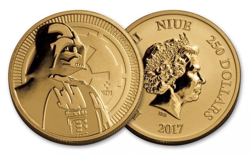 2017 Niue 1-oz Gold Star Wars Darth Vader BU