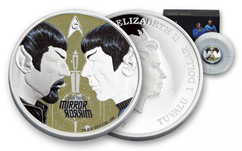 2017 Tuvalu 1 Dollar 1-oz Silver Star Trek Mirror Mirror Proof
