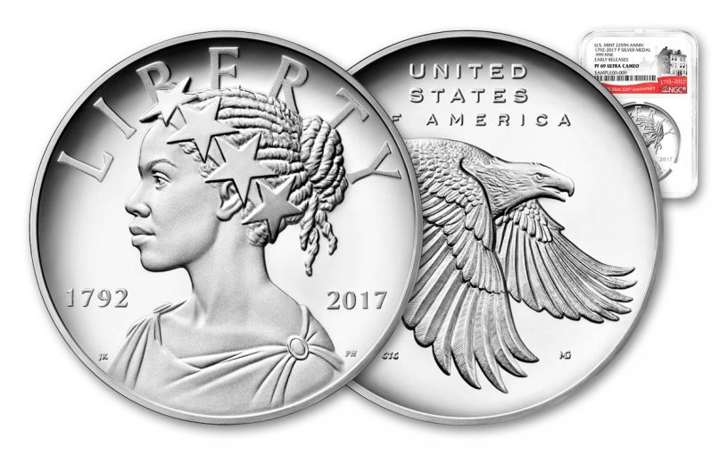 2017-P 1oz Silver American Liberty NGC PF69 UC ER 225th