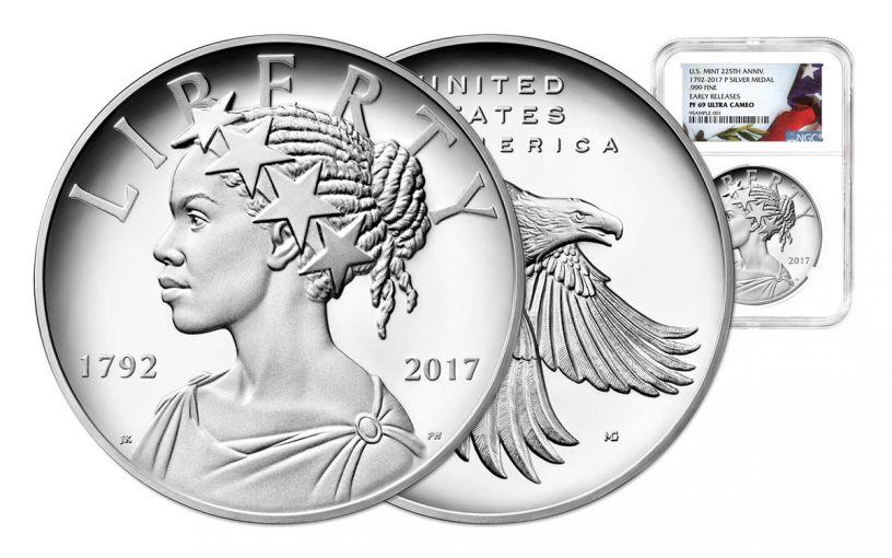 2017-P 1oz Silver American Liberty Medal NGC PF69 ER FLAG