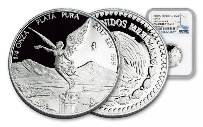 2017 Mexico 1/4-oz Silver Libertad NGC PF69UC- First Releases