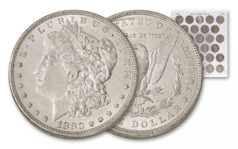 1878-1921 Morgan Silver Dollar 28-Piece Set XF-BU