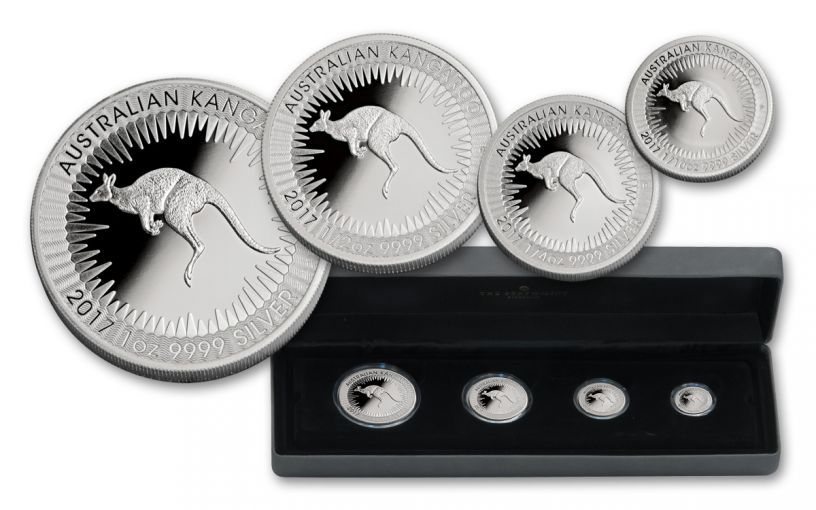 2017 Australia Silver Kangaroo Proof Set- 4 Piece