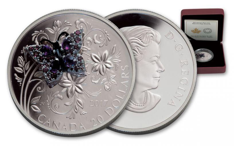 2017 Canada 20 Dollar 1-oz Silver Bejeweled Bugs Buffer Fly Proof