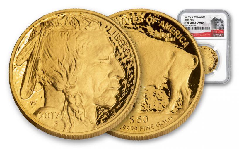 2017-W 50 Dollar 1-oz Gold Buffalo 225th NGC PF70 UCAM