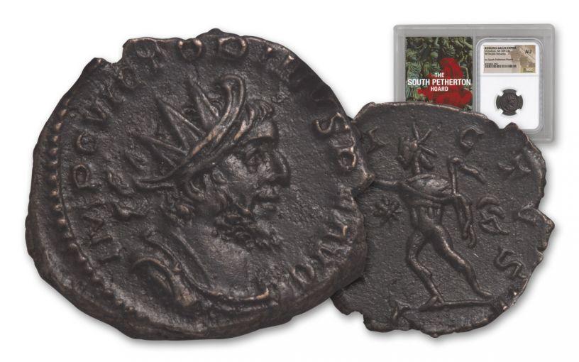 253-271 AD Roman Bronze South Petherton Hoard Victorinus NGC AU