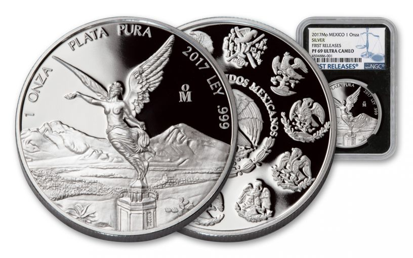2017 Mexico 1-oz Silver Libertad NGC PF69UCAM First Releases BC