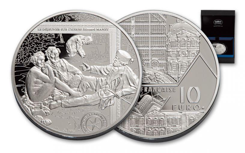 2017 France 10 Euro Silver Dejeuner Sur L'Herbe Proof