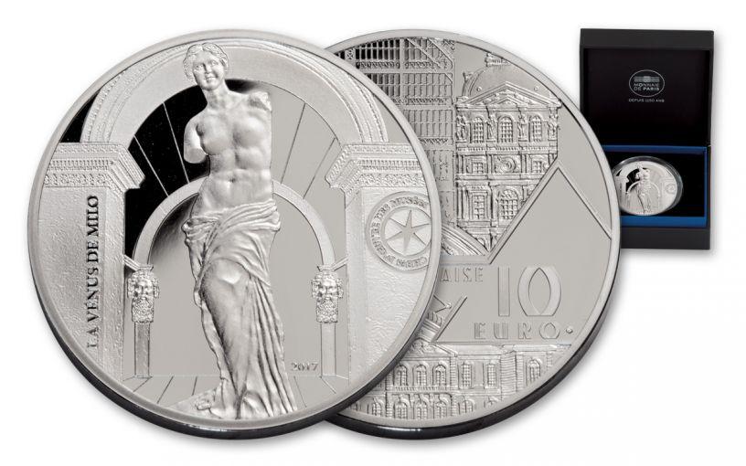 2017 France 10 Euro Silver Venus De Milo Proof