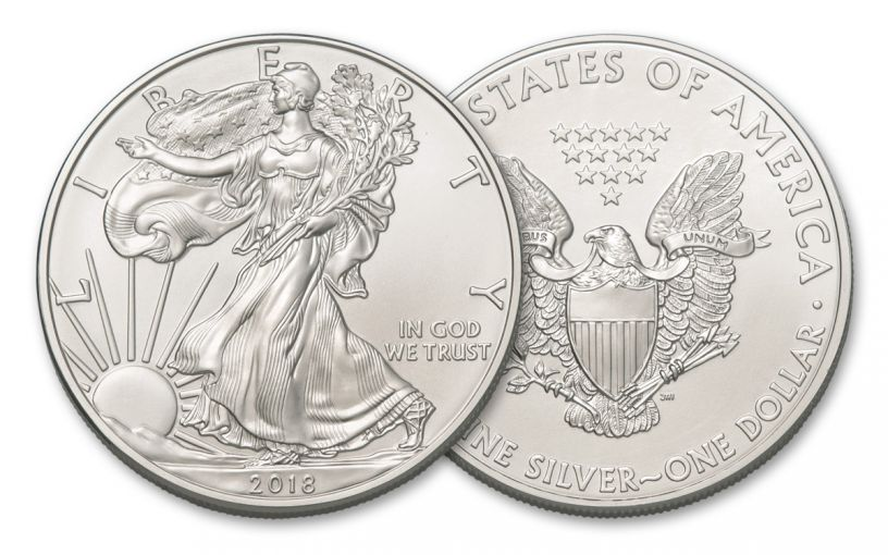 2018 1 Dollar 1-oz Silver Eagle Brilliant Uncirculated