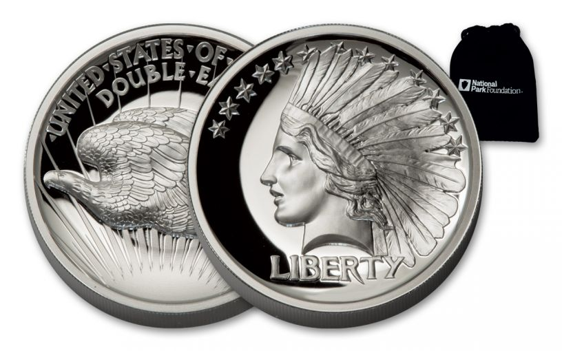 2017 1-oz Silver Double Eagle Indian High Relief Proof
