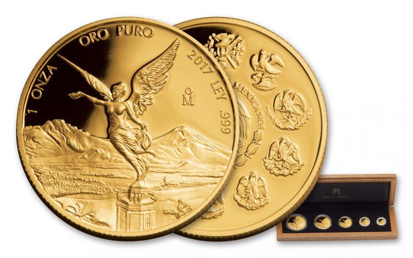 2017 Mexico 5pc Gold Libertad Proof Set