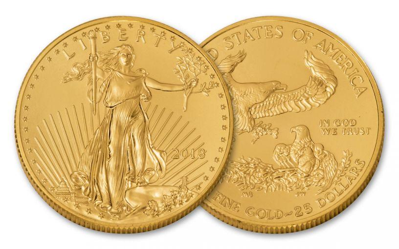 2018 25 Dollar 1/2-oz Gold Eagle BU