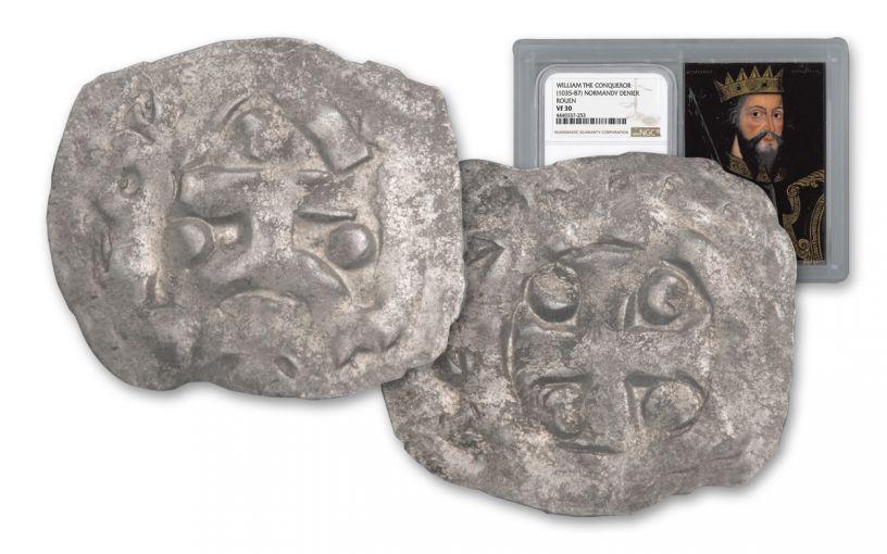 1035-1087 Normandy Silver Rouen Denier Of William NGC VF30