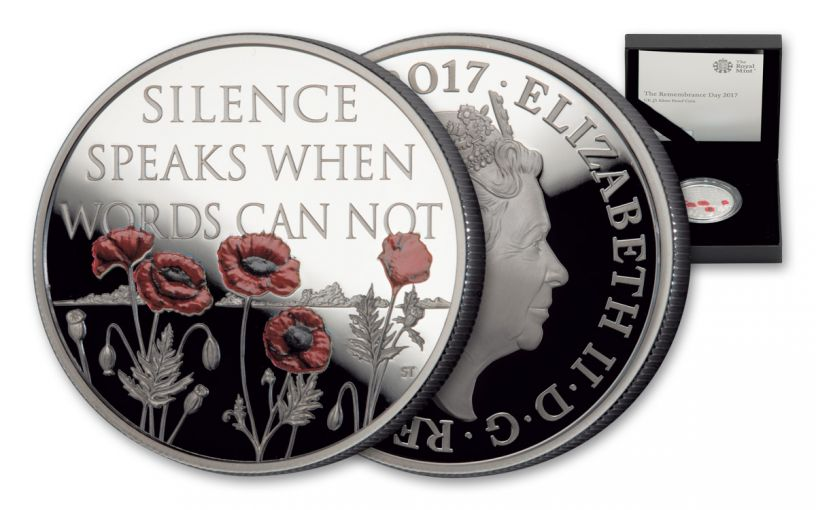 2017 Great Britain 5 Pound Silver Remembrance Proof