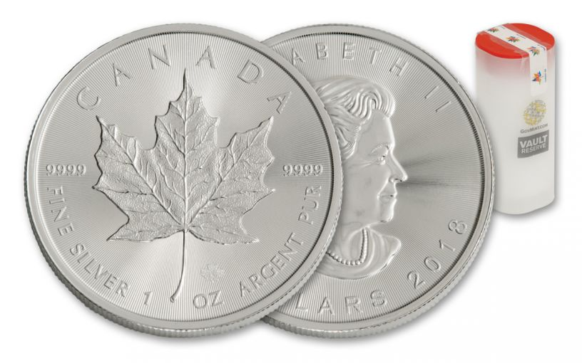 2018 Canada 1-oz Silver Maple Leaf Brilliant Uncirculated Vault Reserve