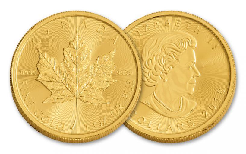 2018 Canada 1-oz Gold Maple Leaf Brilliant Unicrculated