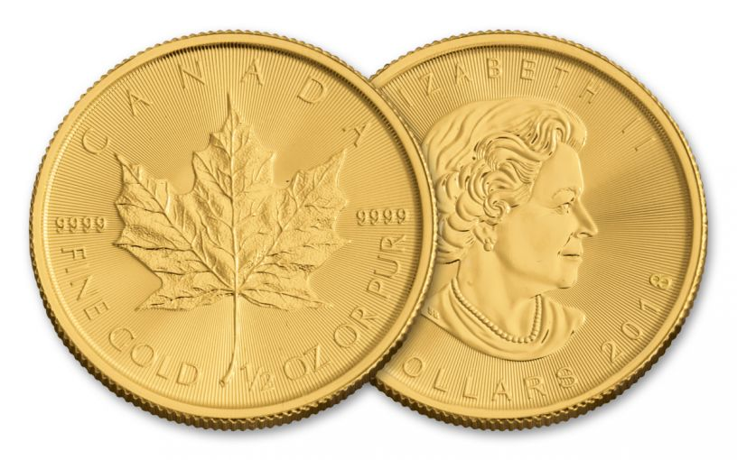 2018 Canada 1/2-oz Gold Maple Leaf Brilliant Uncirculated