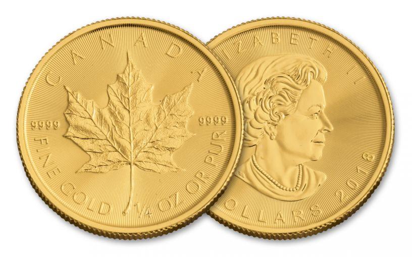 2018 Canada 1/4-oz Gold Maple Leaf Brilliant Uncirculated