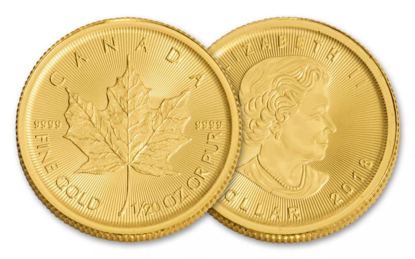 2018 Canada 1/20-oz Gold Maple Leaf Brilliant Uncirculated