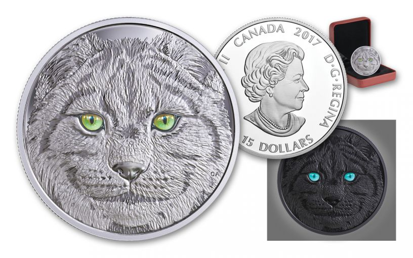 2017 Canada 15 Dollar Silver In The Eyes Of The Lynx Proof
