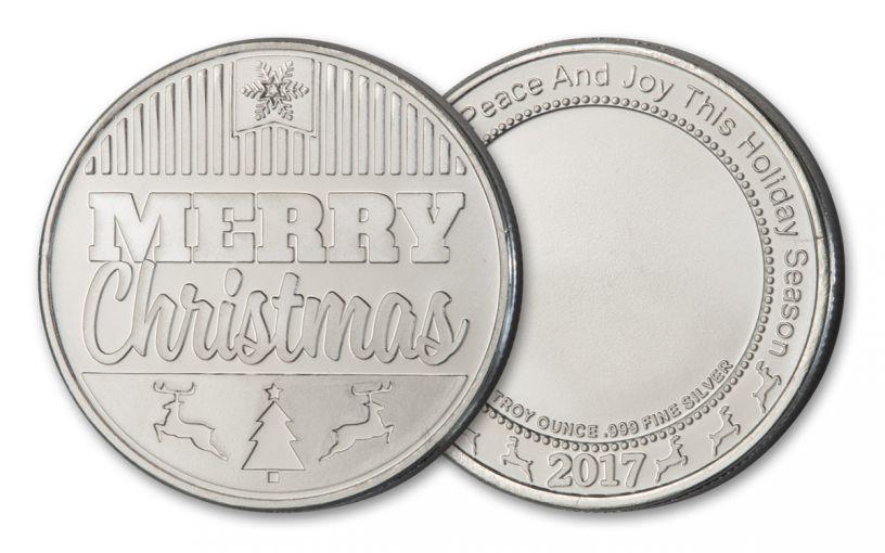 2017 1-oz Silver Merry Christmas Round