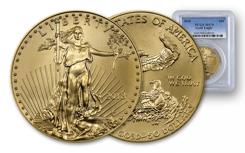 2018 50 Dollar 1-oz Gold Eagle PCGS MS70