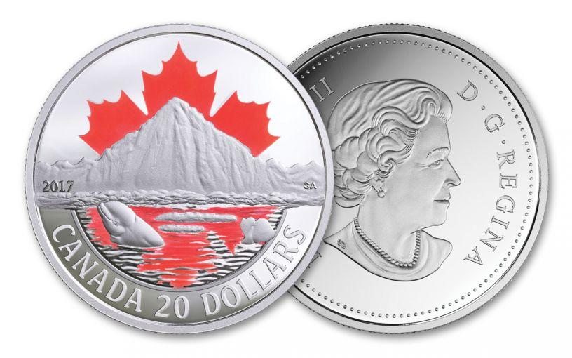 2017 Canada 20 Dollar 1-oz Silver Arctic Coast Proof Coast Series