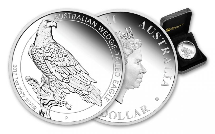 2017 Australia $1 1-oz Silver Wedge Tailed Eagle Proof