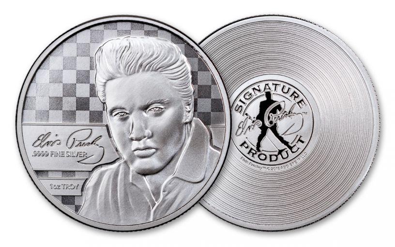 2018 1-oz Silver Elvis Presley Commemorative Prooflike