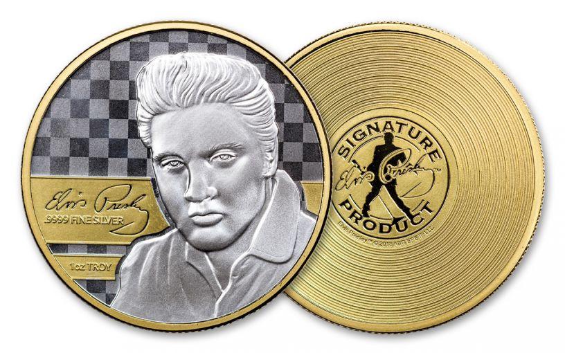 2018 Elvis Commemorative 1-oz Gold Plated Prooflike