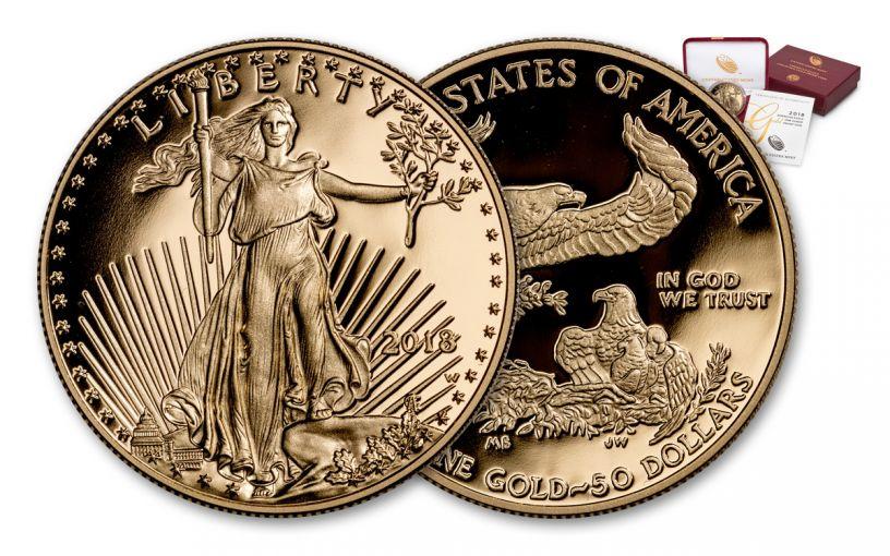 2018-W 50 Dollar 1-oz Gold Eagle Proof