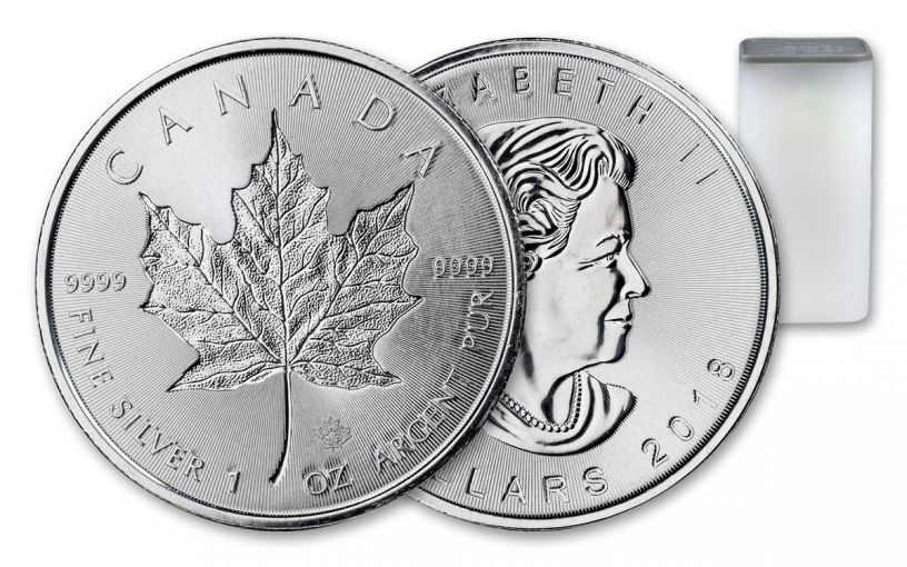 2018 Canada 1-oz Silver Incuse Maple Leaf BU Roll Of 25