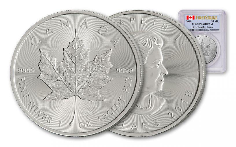 2018 Canada 1-oz Silver Maple Leaf PCGS MS69 First Strike