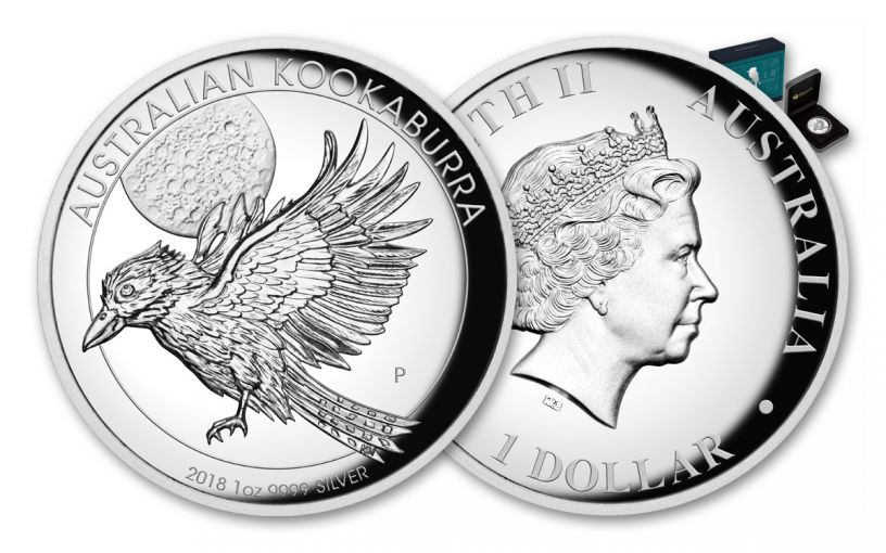 2018 Australia 1 Dollar 1-oz Silver Kookaburra High Relief Proof