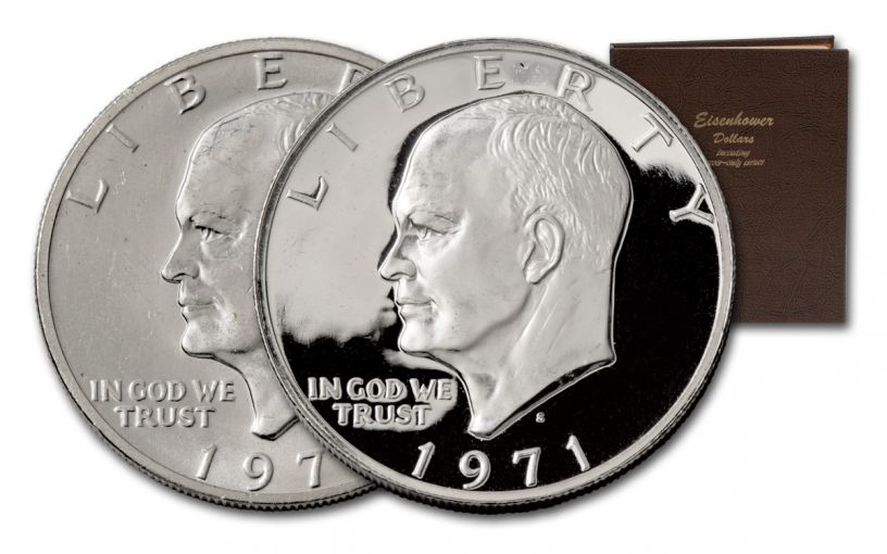 1971-1978 Eisenhower Dollar Complete 32-Piece Coin Collection Set with Album