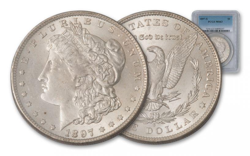 1897-S Morgan Silver Dollar NGC or PCGS MS63